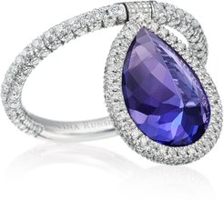18K Palladium, Tanzanite and Diamond Flip Ring