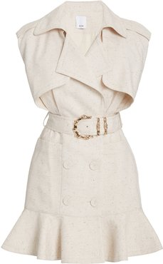 Acler Hanbury Belted Cotton-Blend Belted Mini Trench Dress