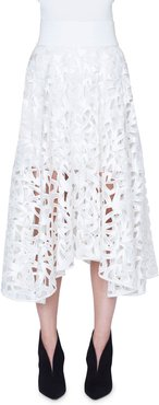 Marker Embroidered Maxi Skirt