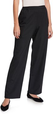 Flat Front Straight-Leg Trousers