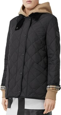 Cotswold Quilted Barn Jacket, Black
