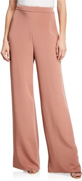 Silk High-Rise Wide Leg Pants
