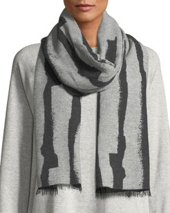Recycled Cotton-Blend Jacquard Streaks Scarf