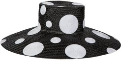 Dotty Wide Brim Luncheon Hat
