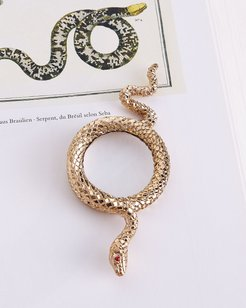 Snake Small Gold-Plated Magnifying Glass