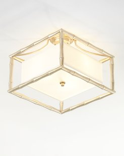 Masefield 3-Light Antiqued Silver Ceiling Mount