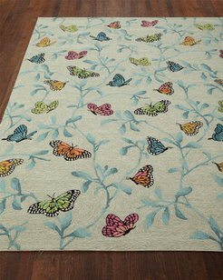 """Butterfly Blossom Indoor/Outdoor Rug, 5' x 7'6"""""""