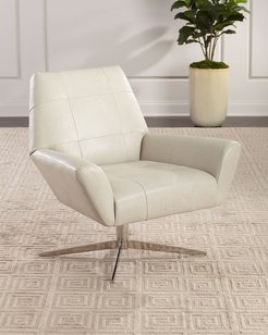 D'Angelo Leather Swivel Chair