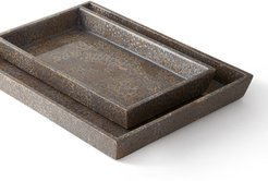 Callas Silver Nested Trays, Set of 2