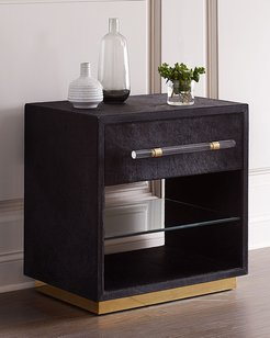 Cassian Hairhide Bedside Chest