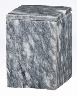 Myrtus Collection Square Cloud Gray Marble Canister