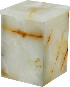 Myrtus Collection Light Green Onyx Square Canister