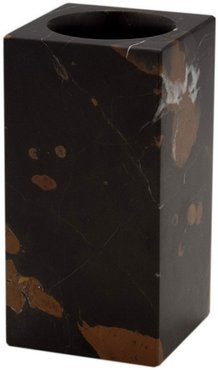 Myrtus Collection Square Black & Gold Marble Tumbler