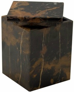 Myrtus Collection Black And Gold Marble Canister