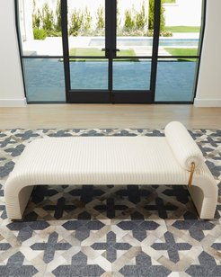 Cade Milk Leather Daybed