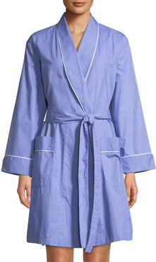Contrast-Piping Short Robe