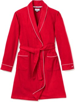 Flannel Contrast-Piping Robe, Size 2-14