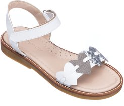 Girls' Leather Heart Sandals, Toddler/Kids