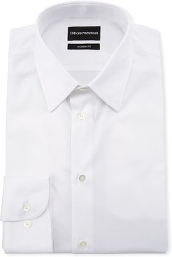 Modern-Fit Cotton-Stretch Dress Shirt, White