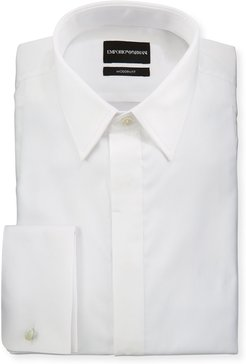 Modern Fit Basic Tuxedo Shirt with Point Collar & French Cuffs