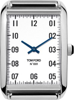Polished Stainless Steel Case, White Dial, Medium