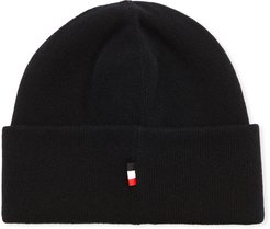 Beretto Striped-Tag Tricot Beanie Hat