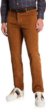 Straight-Leg Corduroy 5-Pocket Pants, Vicuna