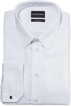 New York Micro-Pattern Dress Shirt, White