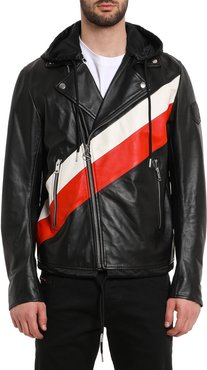 Solove Striped Leather Jacket
