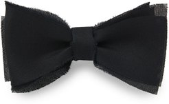 Layered Raw-Edge Bow Tie