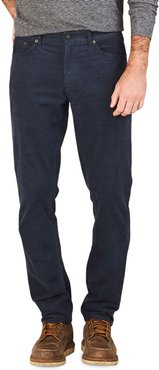 Stretch-Corduroy 5-Pocket Pants, Navy