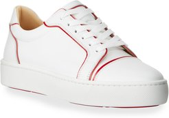 Seavastissmo Low-Top Leather Red Sole Sneakers