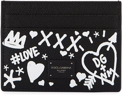 Graffiti Leather Card Case