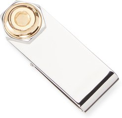 Hex Silver Money Clip w/ Gold Plating