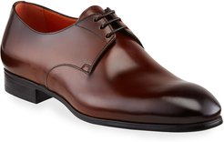 Induct Burnished Leather Derby Shoes