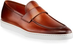 Pace Soft Burnished Leather Slip-Ons