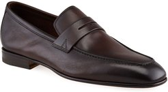 Imam Soft Burnished Leather Penny Loafers