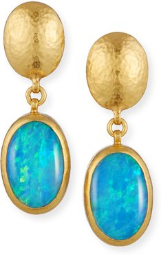 24K Paradiso Opal Oval-Drop Earrings