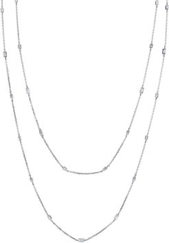 """18k White Gold By-the-Yard Diamond Necklace, 48""""L"""
