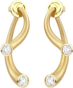 18k Two-Piece Earrings with Diamonds