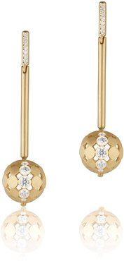 Disco Dots Diamond Stick Drop Earrings