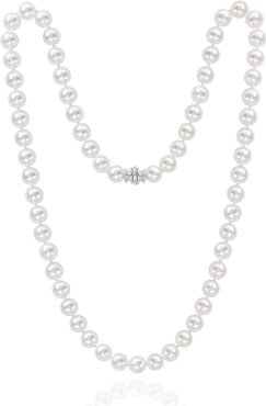 """22"""" Akoya 8-8.5mm Pearl Necklace with White Gold Clasp"""