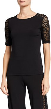 Orly Lace-Sleeve Top