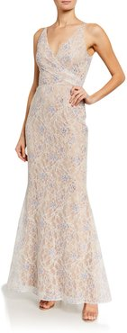Helen Sequin Lace Sleeveless Gown