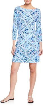 Sophie Printed 3/4-Sleeve UPF 50 Shift Dress