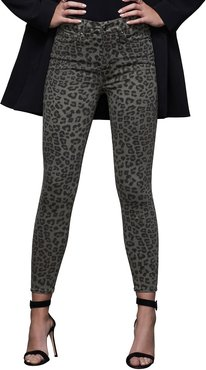 Good Waist Leopard-Print Ankle Skinny Jeans - Inclusive Sizing