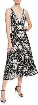 Brigida Embroidered Long Dress