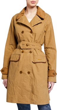 Haydon Double-Breasted Cotton Trench Coat