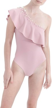 Pearl One-Shoulder One-Piece Swimsuit