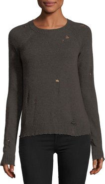 Cinderella Long-Sleeve Distressed Pullover Sweater